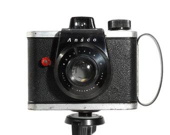 Rare ANSCO Ready Flash American Roll Film Camera from 1950s - Rare Classic Retro Style