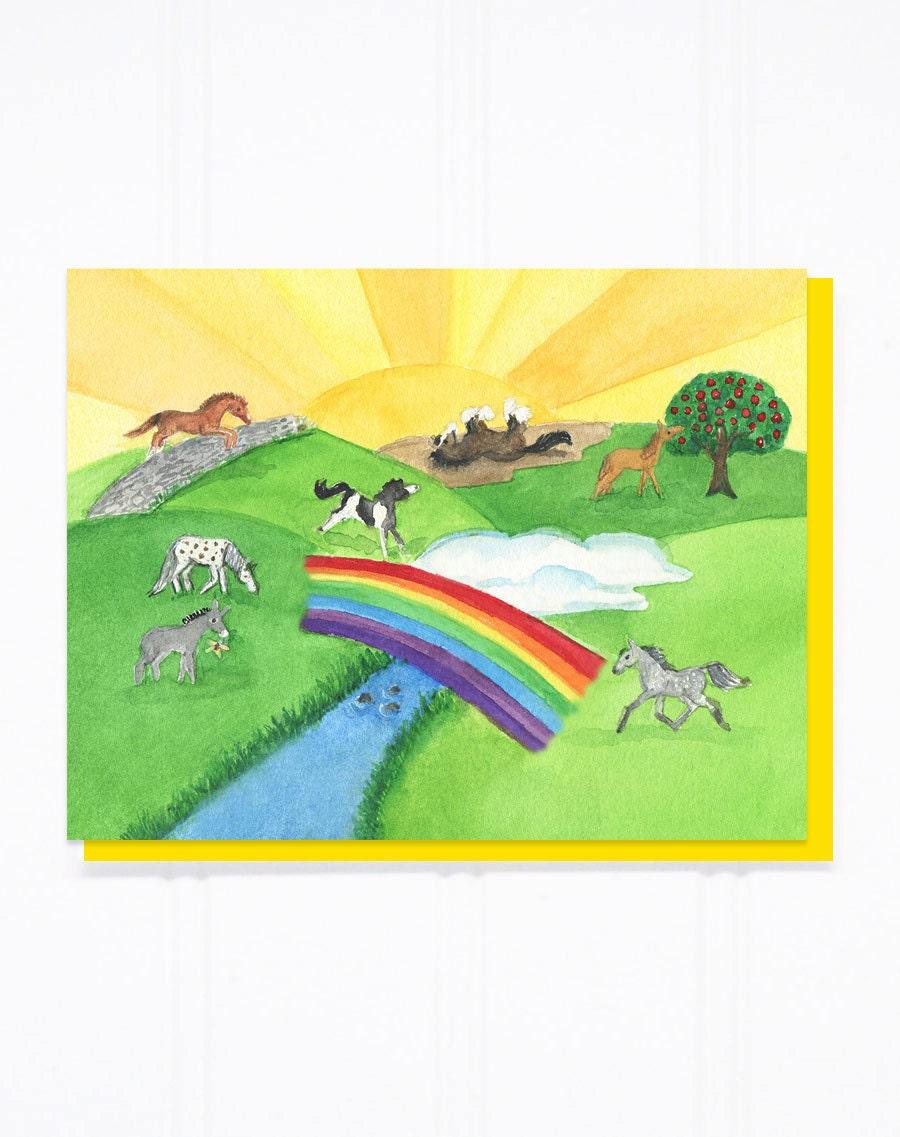Die Regenbogenbrücke Tier/Pferd Verlust Sympathie Karte   Etsy