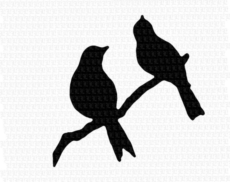 picture regarding Printable Silhouettes called Perched Birds Department Silhouette Printable Impression Electronic Clip Artwork 2413