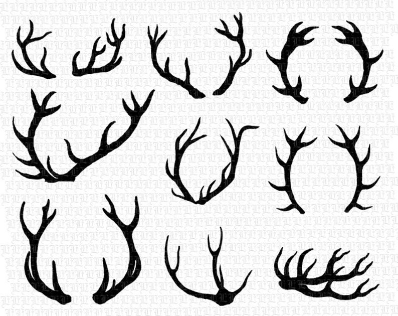 graphic relating to Printable Deer Antlers called 9 Deer Antlers Silhouette Printable Significant High-quality Picture Immediate Obtain 2430