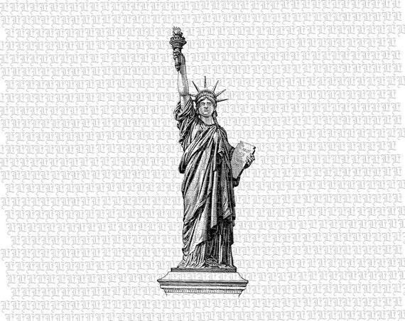 Estatua de la libertad para imprimir descargar instantánea | Etsy
