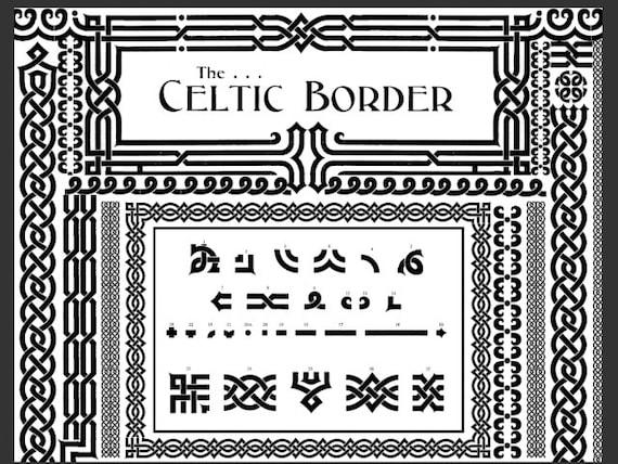 Celtic Art DIY Borders and Frames Digital Celtic Combination | Etsy