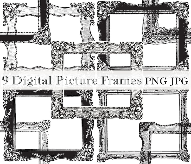 picture relating to Printable Frames called Rectangular Basic Decorative Visualize Frames Printable Frames Antique Higher High quality Examples PF9A