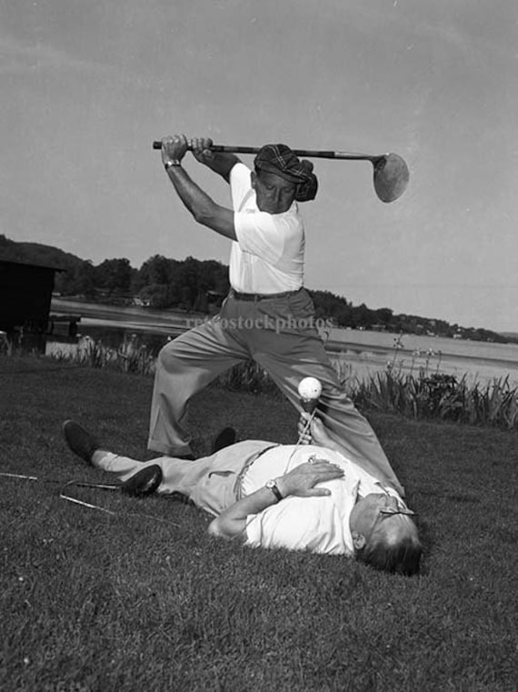 Vintage Black And White Photography Golf Themed Art And Etsy