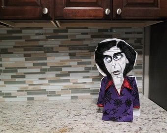 Nick Cave Puppet HANDMADE NICK CAVE Original Painting Acrylic & Felt