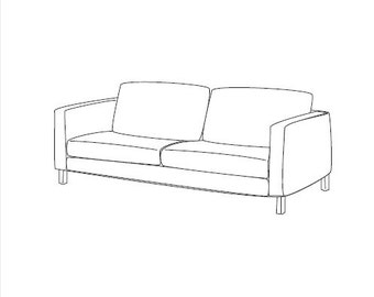 ikea karlstad couch cover pattern patron housse ikea karlstad - Ikea Karlstad Sofa