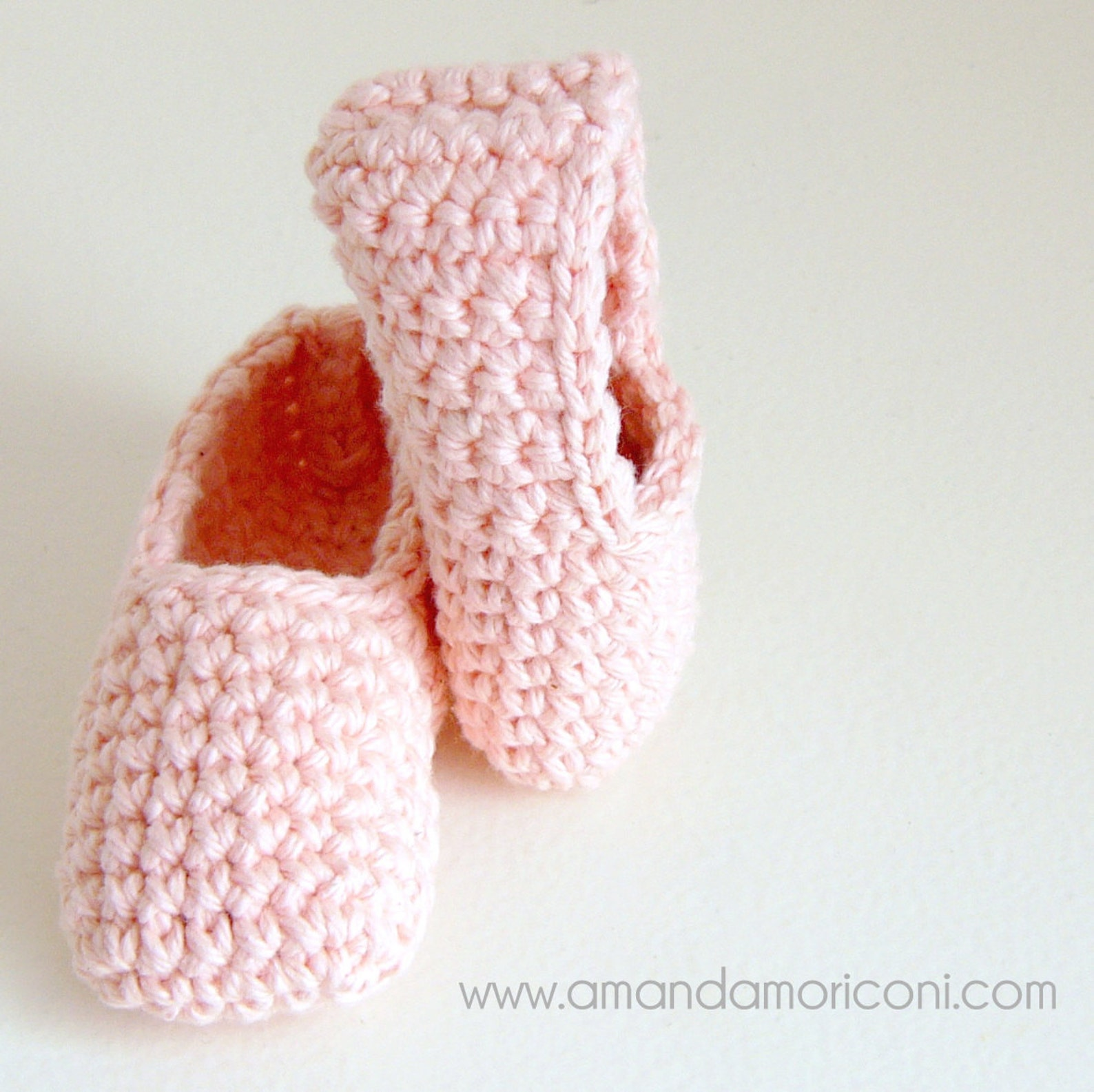baby ballerina ballet shoes crochet pattern pdf download worsted weight cotton yarn