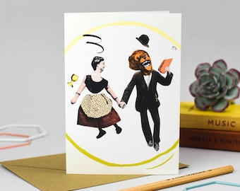 Skipping Couple Card