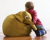 Yellow Elephant bean bag