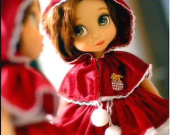 """Little Red riding hood / Doll clothes for Disney animator dolls 16""""."""