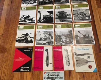 Vintage AFV Weapons Profile Magazine Collection