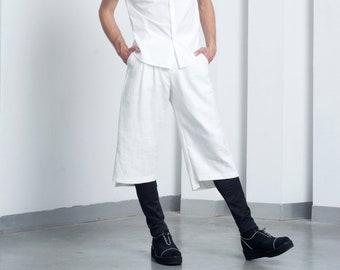 Mens shorts Mens white shorts Bermuda shorts Mens 3/4 shorts Mens tailored shorts Wool shorts Mens long shorts Japanese shorts pleated