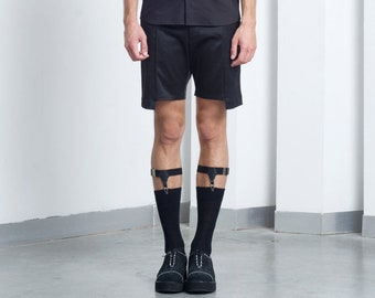 Mens shorts Mens Black shorts Mens short shorts Mens tailored shorts Mens Japanese Clothing Minimalist Clothing Mens summer shorts slim fit