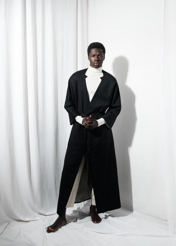 Mens Coat Long Black, Mens Long Black Winter Coats