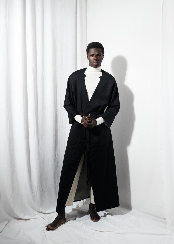 Lange Zwarte Winterjas Heren.Heren Jas Heren Lange Jas Heren Zwarte Mens Wol Vacht Mens Etsy
