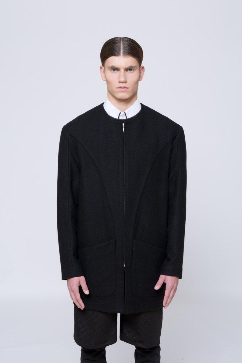 Mens Coat Mens Wool Coat Mens Black Coat Mens Long Coat Mens Etsy
