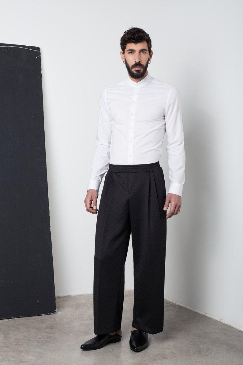 7a4a5a36e0 Pantaloni da uomo, Mens su misura pantaloni, pantaloni da uomo fantasia,  Mens larghi pantaloni, pantaloni da uomo nero, pantaloni oversize,  giapponese ...