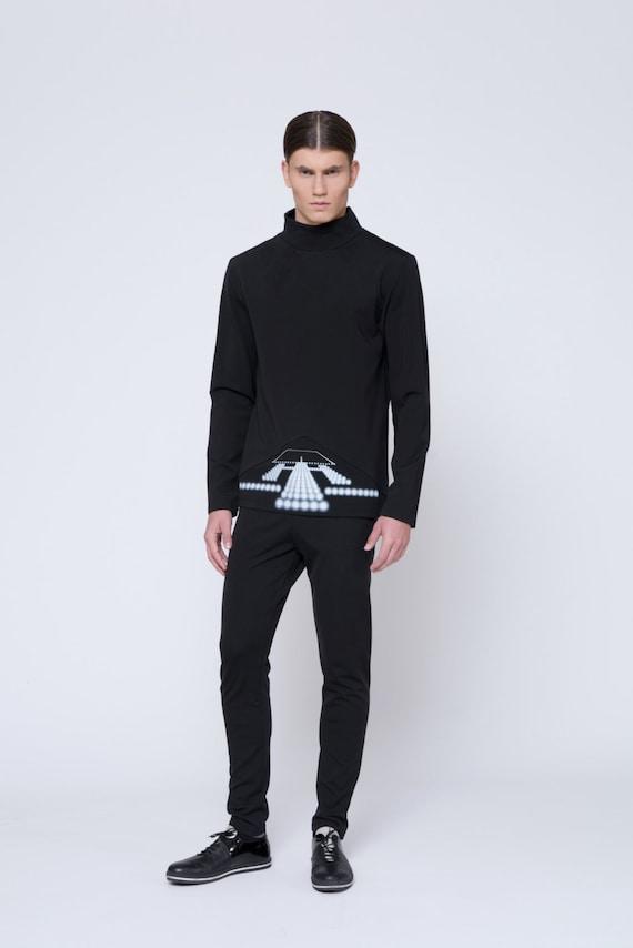 Mens Sweater Mens Turtleneck Sweater Mens Black Sweater Mens Etsy