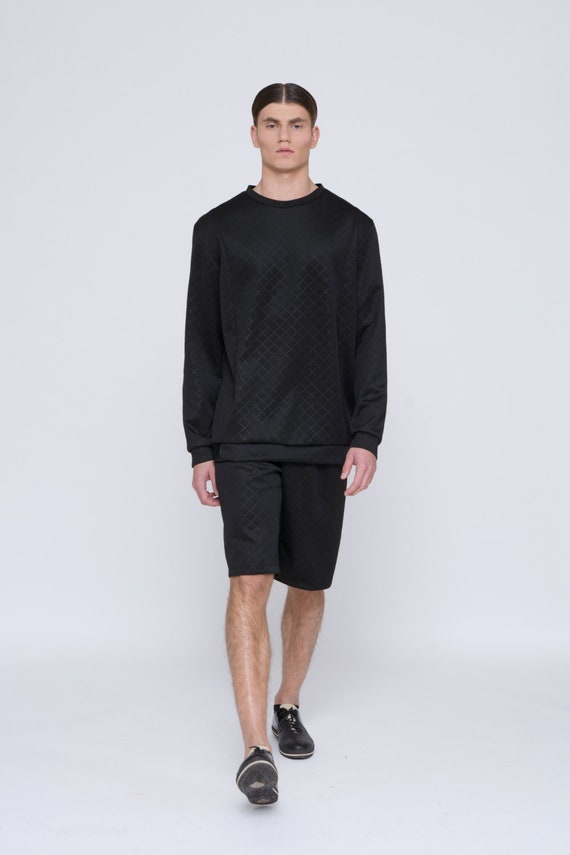 Mens Sweater Mens Black sweater Mens Long Sleeve sweater Mens Oversized  sweater Diamond Sweater for men pullover mens clothing mens jumper