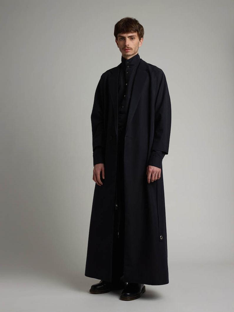 Mens Coat Mens Long Coat Mens Black Coat Mens Silk Coat Mens Etsy