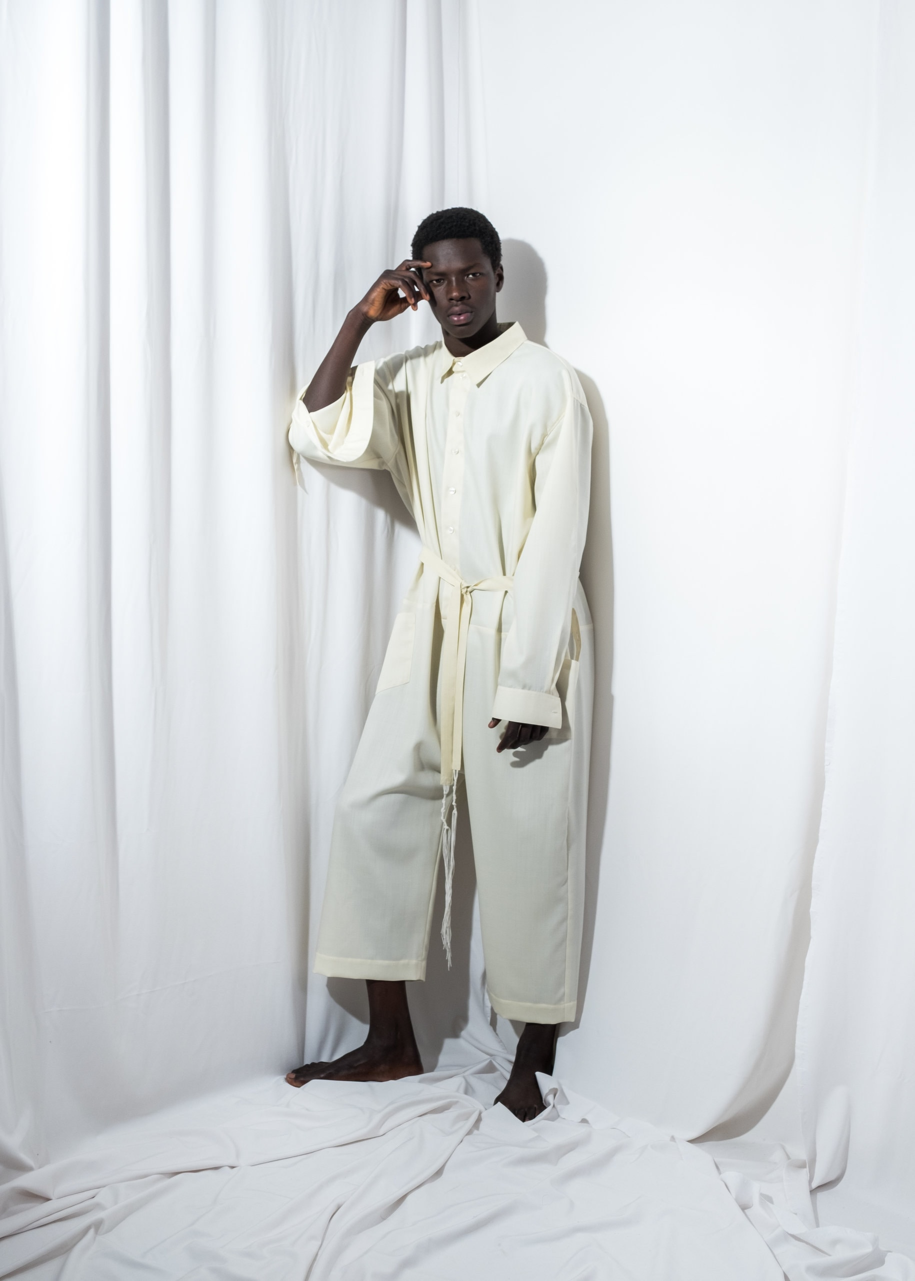 3cefb7590 Mens Jumpsuit Mens overall Mens Wool overall Mens White