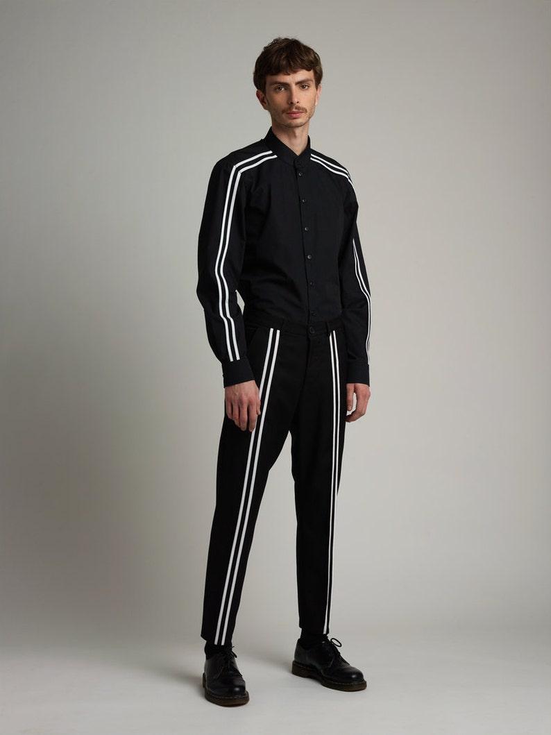 Mens Pants Black Pants dress Pants Slim fit Pants Mens trousers slim fit trousers Mens clothing minimalist clothing pants men casual pants