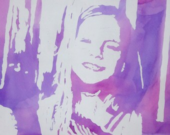 Custom Watercolour Portrait, Family, Kids, Icons, Gift, Any Colour