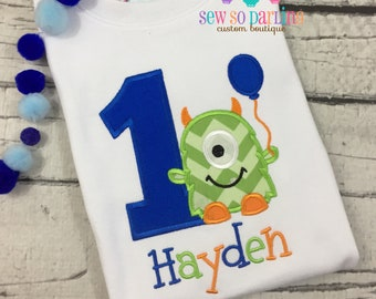 Baby Boy Monster Birthday Outfit - Monster Birthday Shirt - 1st Birthday Monster Shirt  - Birthday shirt boys - Monster birthday outfit