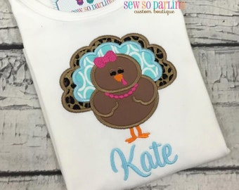 Baby Girl Thanksgiving Outfit - Baby Girl turkey shirt - Baby Thanksgiving Outfit - Thanksgiving Shirt - Personalized Thanksgiving Clothes
