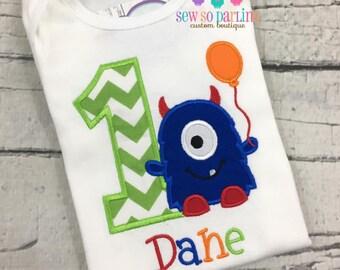 1st Birthday Monster Shirt - primary colors Monster Birthday Shirt - Baby Boy Monster Birthday Outfit - Birthday shirt