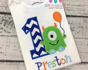Monster Birthday Shirt - 1st Birthday Monster Shirt - Baby Boy Monster Birthday Outfit - Birthday shirt - Monster birthday outfit