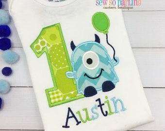 baby boy first birthday outfit - 1st Birthday Monster Shirt - Monster Birthday Shirt -  Baby Boy Monster Birthday Outfit - Birthday shirt