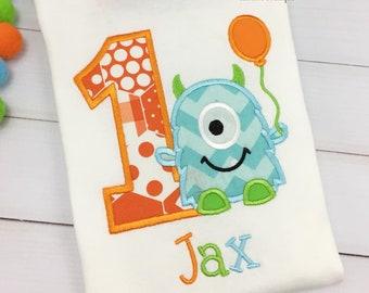 1st Birthday Monster Shirt - Monster Birthday Shirt - Baby Boy Monster Birthday Outfit - Birthday shirt for boys - Monster birthday Any Age
