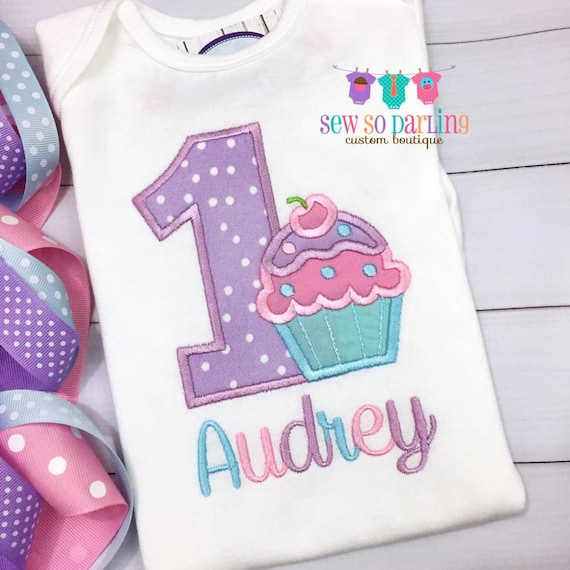 1 Geburtstag Madchen Cupcake Outfit Baby Madchen Cupcake Etsy