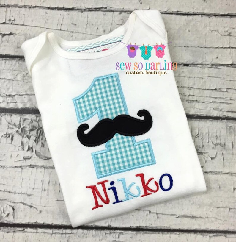 Birthday Mustache Shirt 1st Birthday Little Man Birthday Outfit 1st Birthday Outfit Baby Boy 1st Birthday outfit