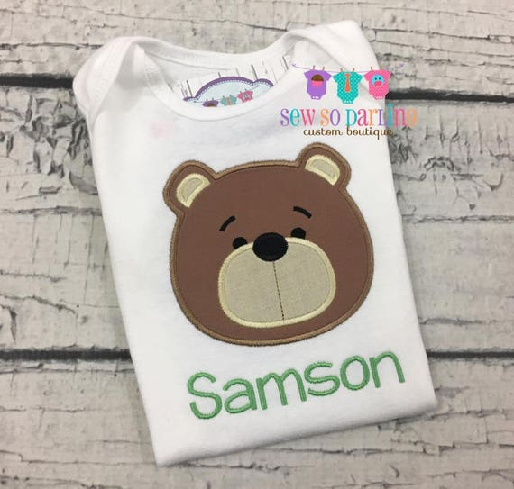 d002db292 Personalized baby boy bear outfit baby boy clothes Boy