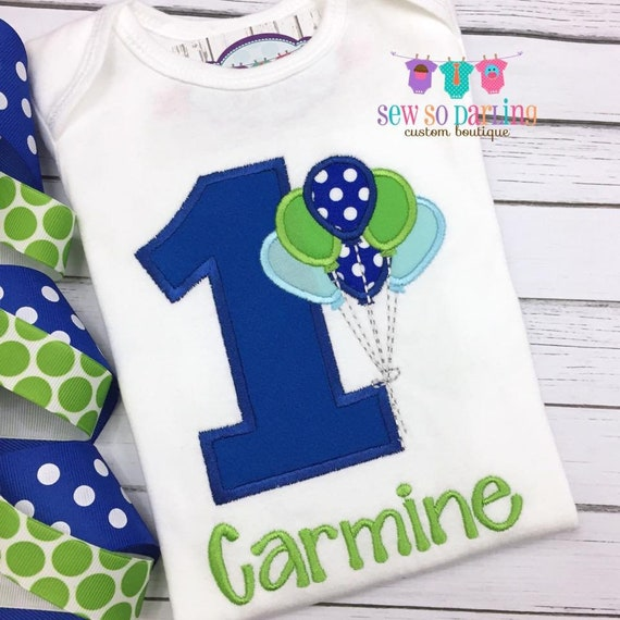 1st Birthday Outfit Boy.First Birthday Outfit Boy Blue And Green Boy Birthday Outfit 1st Birthday Balloon Outfit 1st Birthday Shirt First Birthday Outfit