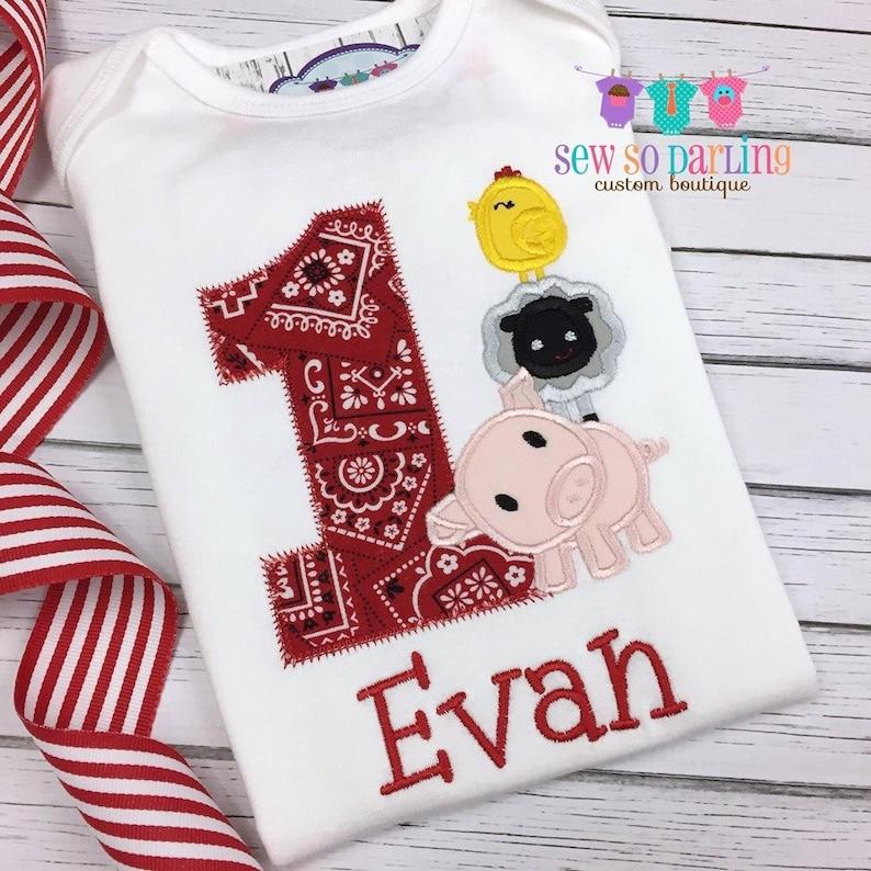 Any Age Pig Birthday Shirt Farm Birthday Farm Party Custom Made Pig Birthday Shirt Girls/' Pig Birthday Shirt or Bodysuit Any Fabrics