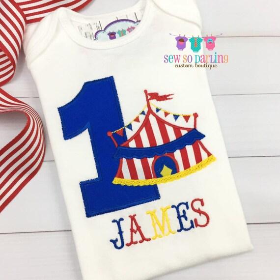 Circus Birthday Shirt 1st Baby Boy