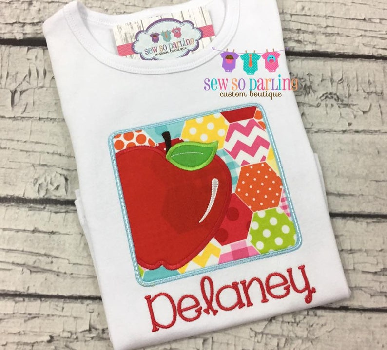 First day Girl School Shirt Back to school Shirt for Girls Apple School Shirt Back to school outfit Personalized school shirt