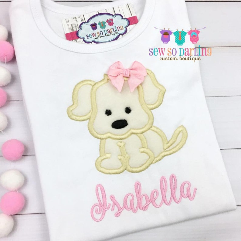 4aa048df4cc2 Girl Puppy Shirt Puppy Outfit for Girls Baby girl clothes | Etsy