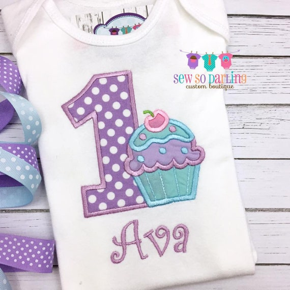 1 Geburtstag Madchen Cupcake Outfit Etsy