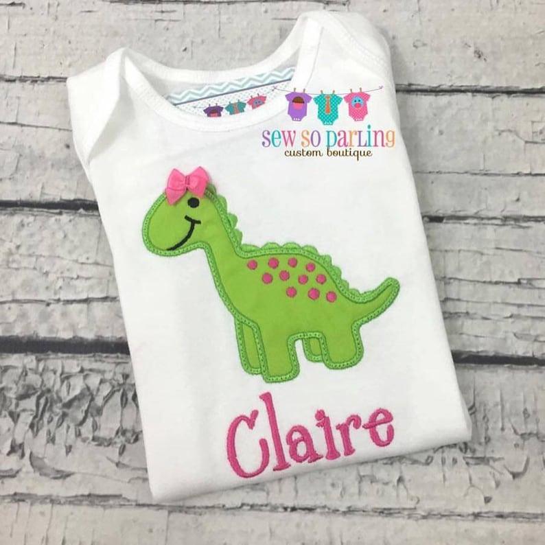 Dinosaur baby girl outfit Girl Dinosaur Shirt baby girl Dinosaur shirt Girl Dinosaur outfit Personalized baby girl clothes