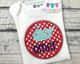 Whale Baby Boy Outfit - baby boy whale shirt - personalized Baby boy clothes - Nautical baby clothes