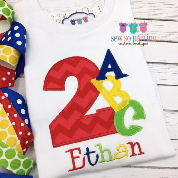 1st Birthday Alphabet Shirt Baby Boy ABC Outfit