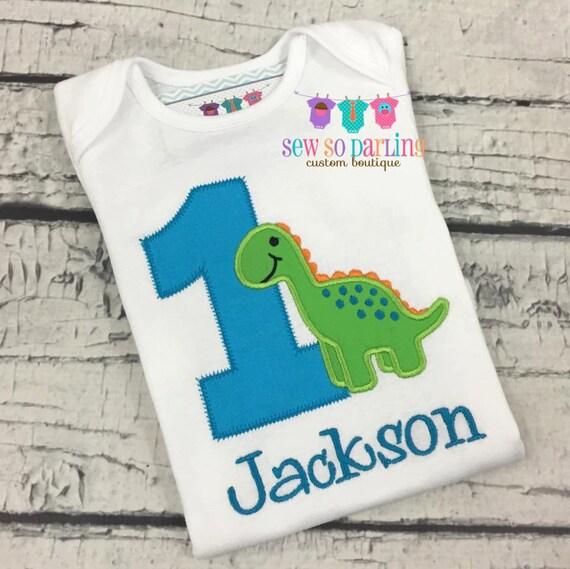 1st Birthday Dinosaur Shirt Baby