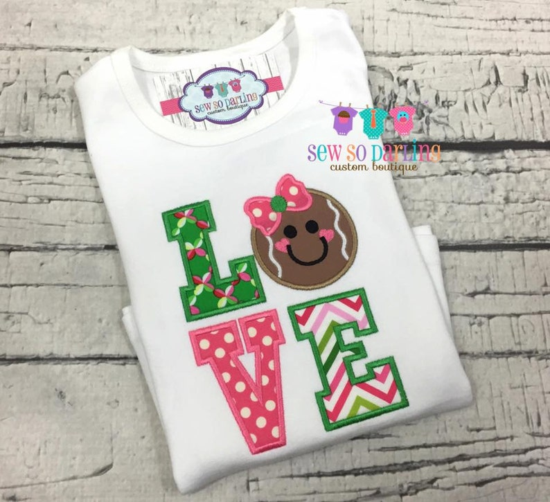52d3519e2379f Baby Girl Christmas Outfit - Baby Christmas Outfit - Gingerbread Shirt -  pink and green christmas shirt - Girl christmas clothes - xmas