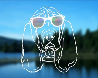 Basset Hound Decal, Dog, Vinyl Decal, Car Decal, Bumper Sticker, Decal