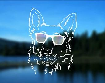 "German Shepherd Decal, Dog, Vinyl Decal, Car Decal, Bumper Sticker, 5"" decal"