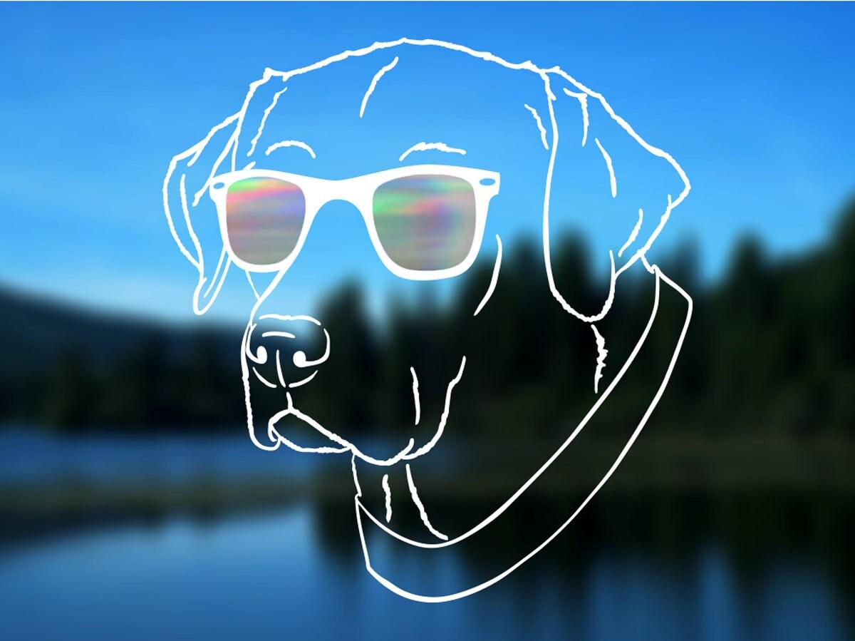 """Paw I Love Labrador Retriever Car Bumper Sticker Decal /""""SIZES/"""""""